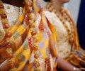 Pagne de cérémonies et accessoires